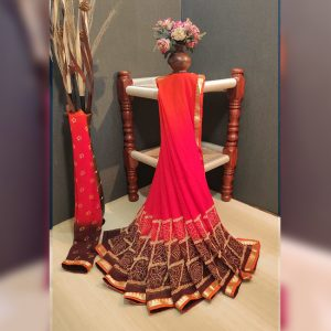 Georgette Saree – MPP1449 | Red | CC-04