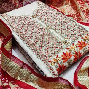 Chandri Dress Material - MPP1467   Orange