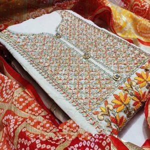 Chandri Dress Material - MPP1467   Red