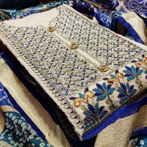 Chandri Dress Material - MPP1467   Off White