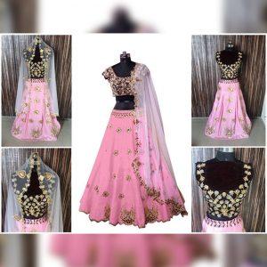 Melbari Lehanga Blouse&Dupatta - MPP1471 | Pink