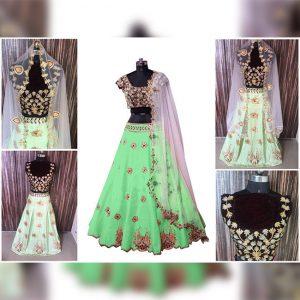 Melbari Lehanga Blouse&Dupatta - MPP1471 | Light Green