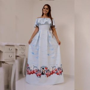 Crepe Gown - MPP1465   White   CC-07