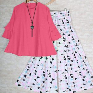 Rayon Top&Plazzo - FB4225   Pink   CC-17