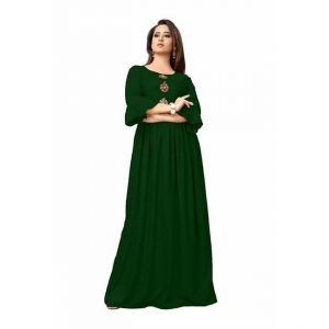 Rayon Long Gown - MPP1517 | Green