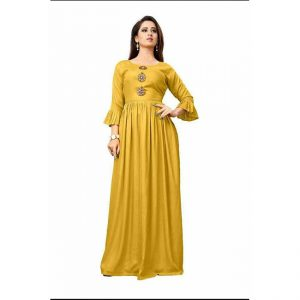 Rayon Long Gown - MPP1517 | Yellow