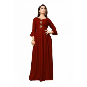 Rayon Long Gown - MPP1517 | Maroon