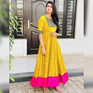 South Silk Gown - FB4247 | Yellow | CC-05