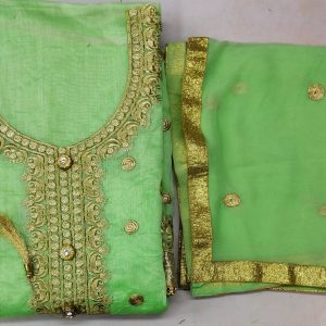 Chanderi Embroidered Dress – MPP1451 | Light Green