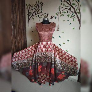 Rayon Aasami Silk Gown – MPP1435   Brown   CC-06