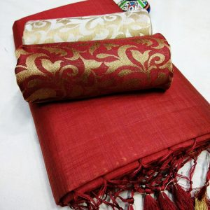 Kalkata Cotton Saree – MPP1450 | Red | CC-04