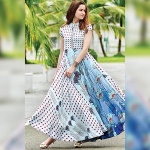 Rayon Aasami Silk Gown – MPP1435   White   CC-05
