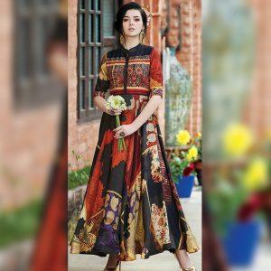 Rayon Aasami Silk Gown – MPP1435   Black   CC-03