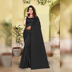 Cotton Silk Saree- FG2513 | Black | CC-03