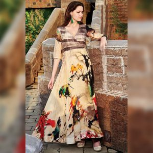 Rayon Aasami Silk Gown – MPP1435 | Yellow | CC-02