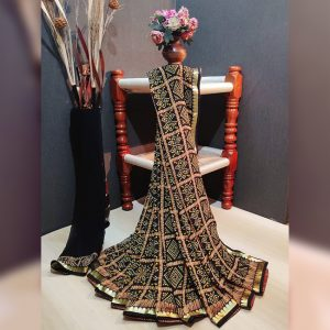 Georgette Saree – MPP1449 | Black | CC-11