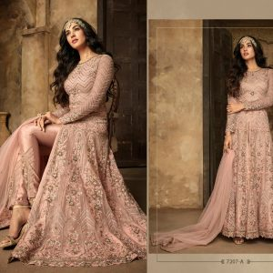 Net&Rangoli Sartin Dress – FB4210 | Pink