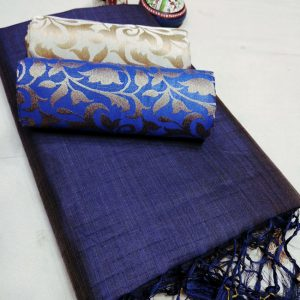 Kalkata Cotton Saree – MPP1450 | Blue | CC-03
