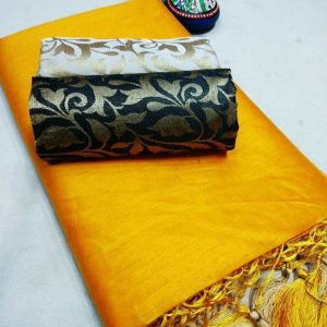 Kalkata Cotton Saree – MPP1450 | Yellow | CC-01