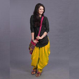 Rayon Kurti Patiyala Dhoti - FG2702 | Yellow