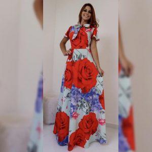 Premium Crepe Stitch Dress - FG2750 | Red | CC-13