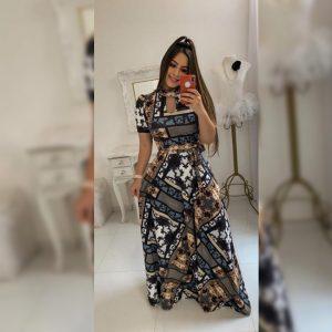 Premium Crepe Stitch Dress - FG2750 | Black | CC-15