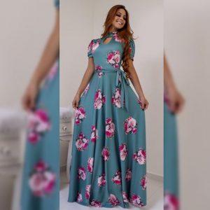 Premium Crepe Stitch Dress - FG2750 | Blue | CC-16
