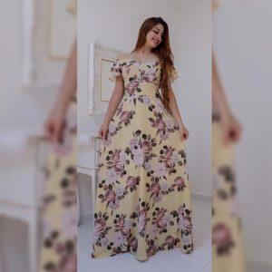 Premium Crepe Stitch Dress - FG2750 | Lemon | CC-02