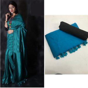 Soft silk Saree - FG2684   Firozi
