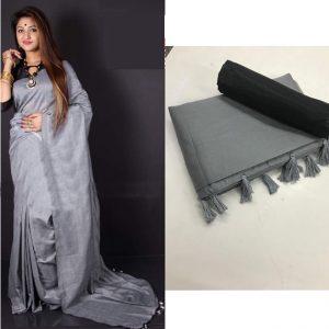 Soft silk Saree - FG2684   Gray