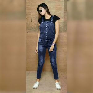 Denim Stretchable Dungree - MPP1615 | Navy Blue