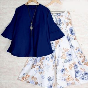 Rayon Stitch Top&Plazzo - FB4260 | Blue | CC-05