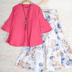 Rayon Stitch Top&Plazzo - FB4260 | Pink | CC-18