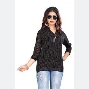 Imported Fabric Tops - FG2666 | Black | CC-04