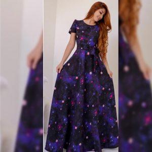 Premium Crepe Stitch Dress - FG2750 | Blue | CC-05