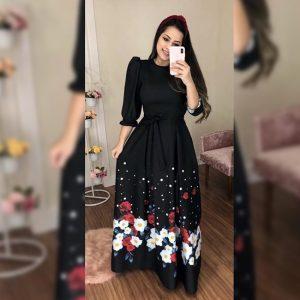 Premium Crepe Stitch Dress - FG2750 | Black | CC-06