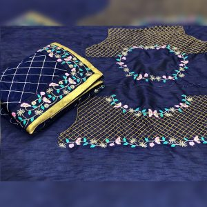 Rangoli Silk Embroidered Saree - FG2638   Blue