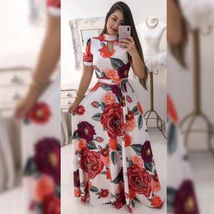 Premium Crepe Stitch Dress - FG2750 | White | CC-07