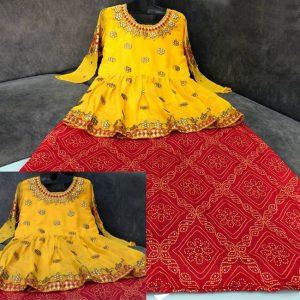 Rayon Cotton Lehanga&Choli - FG2660 | Red