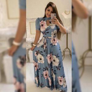 Premium Crepe Stitch Dress - FG2750 | Light Blue | CC-08