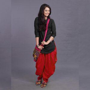 Rayon Kurti Patiyala Dhoti - FG2702 | Red