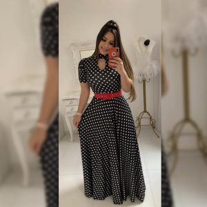 Premium Crepe Stitch Dress - FG2750 | Black | CC-09