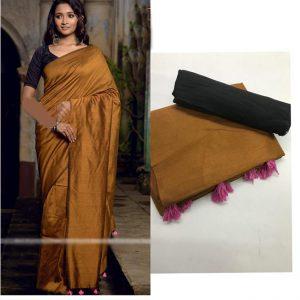 Soft silk Saree - FG2684   Brown