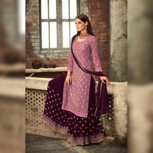 Georgette Work Dress Material - FG2639 | Purple | CC-02