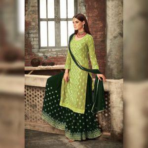 Georgette Work Dress Material - FG2639 | Green | CC-03