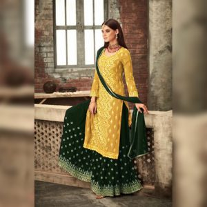 Georgette Dress Material - FG2639 | Yellow | CC-08