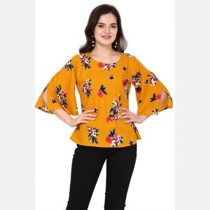 Silk Base Imported Tops - FG2628 | Mustard | CC-01