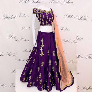 Taffeta Silk Lehanga Choli&Dupatta - MPP1574 | Purple