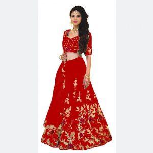 Banglori Lehanga Blouse&Dupatta - MPP1573 | Red
