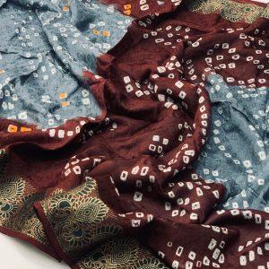 Art silk Saree - MPP1614   Chocolate